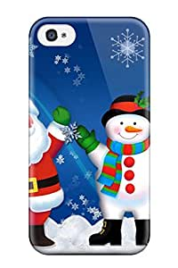 Special Rebecca Skin Case Cover For Iphone 4/4s, Popular Photo Christmas Cards Phone Case