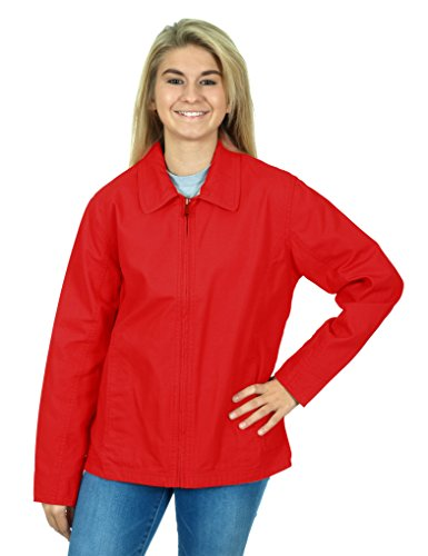 Tri Mountain Womens Casual Hiking Jacket  Small  Red
