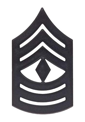 USMC Black Metal (Subdued) Enlisted Rank (E-8 FIRST SERGEANT)