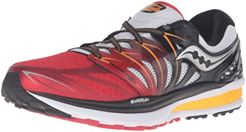 Saucony Chaussures de course Hurricane Iso2 pour homme, Homme, RED/WHITE/ORANGE, 10,5 USA / 44,5 EUR
