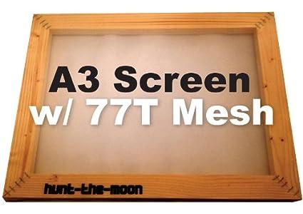 A3 de pantalla de seda 77T de malla marco de madera impresión de ...