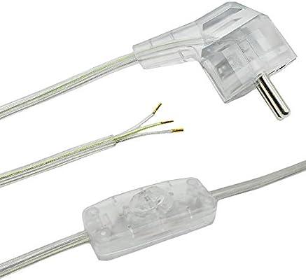 Anschlusskabel 2 M Transparent Fur Tischleuchten Oder Stehleuchten 3 Adrig 250v Lampen Zuleitung Stecker Kippschalter Anschlussleitung Anschlussfertig Amazon De Beleuchtung