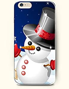 OOFIT New Apple iPhone 6 ( 4.7 Inches) Hard Case Cover - Well-dressed Snowman with Tall Hat