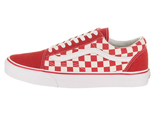 Skool Baskets Old Course Checkerboard Rouge Noir Vans Blanc vqU5ww