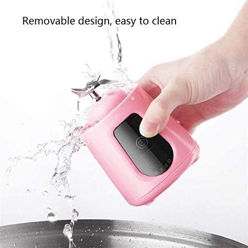 WULE-RYP Blender portátil 420ML Mini Exprimidor, Multi-función de Mezclador eléctrico, de Carga USB portátil portátil de diseño, Jugo de Recorrido al Aire Libre de la Copa