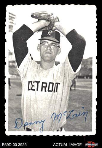 1969 Topps Deckle Edge # 8 Denny McLain Detroit Tigers (Baseball Card) Dean's Cards 1.5 - FAIR Tigers