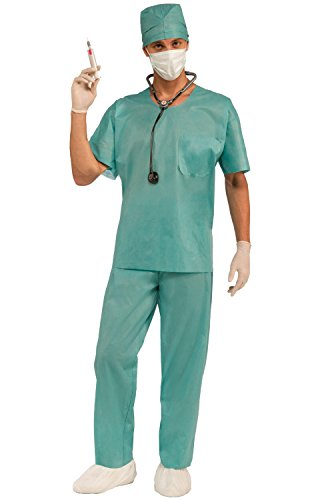 Medical Themed Costumes (Forum Novelties Men's E.R. Doctor Costume, Green, One Size)