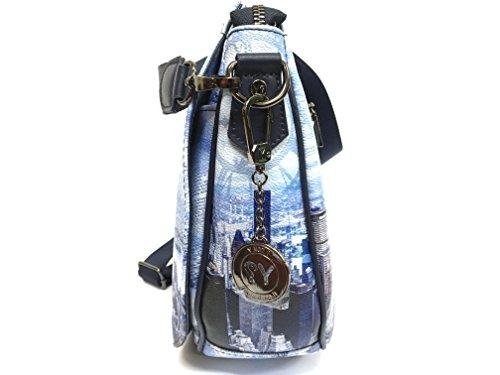 Y NOT Väska med axelrem Art.354 Newyork blå