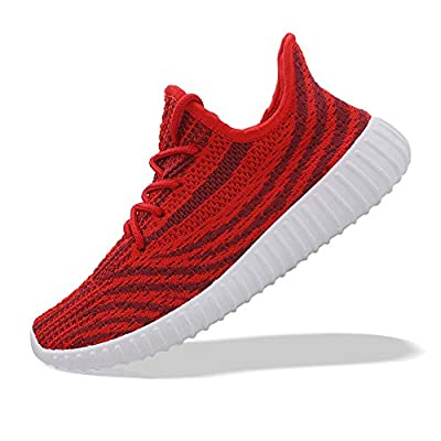 Unisex Breathable Athletic Sport Sneaker Lightweight Gym Walking Shoes A# Red EU38