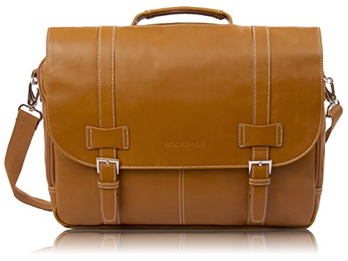 Rockdale Classic Laptop Messenger Bag, Saddle Tan - Briefcase Designed to Fit Laptops 13', 14' and up to 15.6 Inches