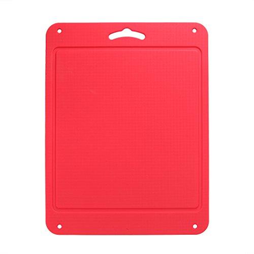 "Unicook Plastics Cutting Board, Flexible Silicone Cutting Board for Kitchen, 12.25"" x 9.25, Dishwasher Safe, Non Slip, Sturdy, Food Grade, Non-toxic, Red"