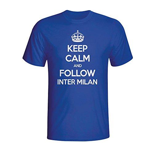 Keep Calm And Follow Inter Milan T-shirt (blue) Kids B07CCLZJLBBlue LB (9-11 Years)