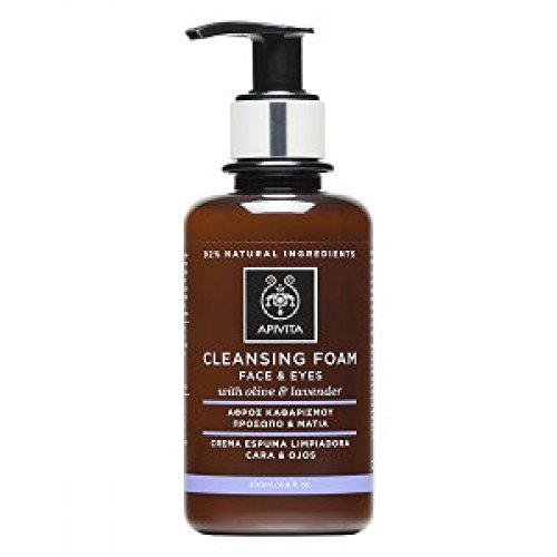 Apivita - Crema espuma limpiadora facial & ojos oliva & lav