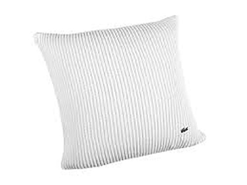 Lacoste Cardigan Rib Cushion 18x18 Throw Pillow, White