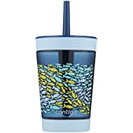 Contigo Kids Tumbler with Straw | Spill-Proof Tumbler with Straw for Kids, 14oz, Nautical Blue