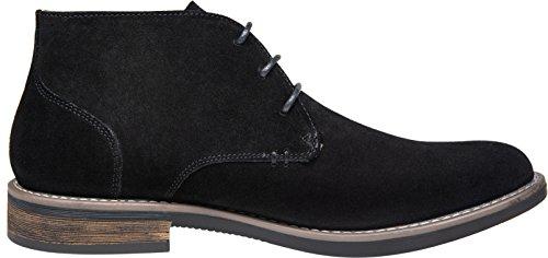 Pictures of JOUSEN Men's Chukka Boots Classic Suede Black 10 M US 5
