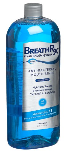 BreathRx Anti-Bacterial Mouth Rinse (33oz Bottle), Large Economy Size., Health Care Stuffs