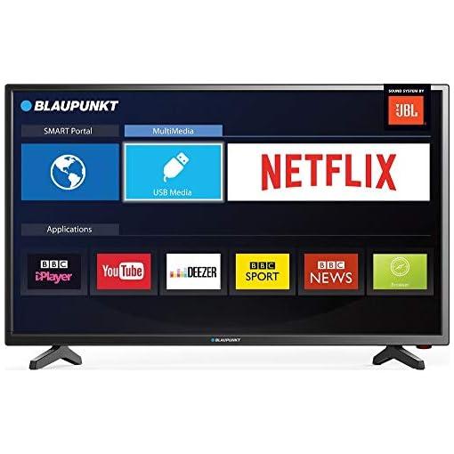 Blaupunkt BLA-32/138M-GB-11B4-EGPX-UK 32 Inch HD Ready LED Smart TV with Freeview HD, 3 x HDMI, Scart and USB Record