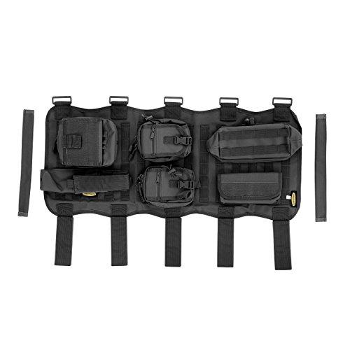 Smittybilt G.E.A.R. 5666001 Overhead Console, Black, for 2007-2018 Jeep Wrangler JK (Overhead Console Storage)