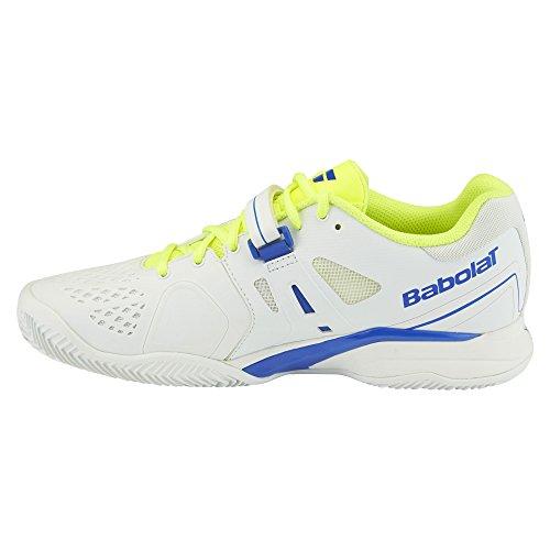 Babolat - Propulse Clay Chaussures de tennis pour hommes (blanc/jaune) - EU 41 - UK 7,5