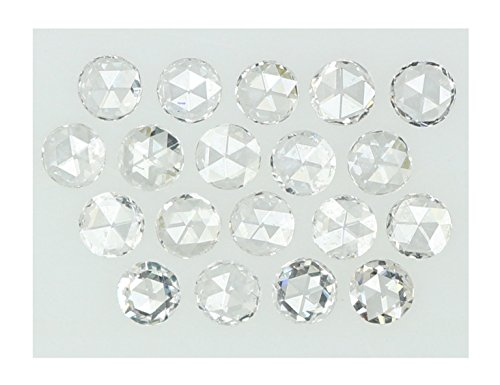 Natural Loose Diamonds Round Rose Cut G Colour VVS1 Clarity 1.35 to 1.45 MM 1 pcs Lot Q112 ()