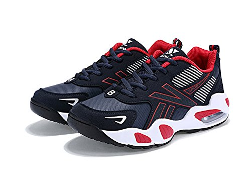 No.66 Town Mens Performance Air Shock Absorption Running Shoes Sneaker Basketball Shoes Red Z8I2N6L