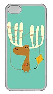 Shell Case for iphone 5C with Cute Cartoon Hippo DIY PC Transparent Hard Skin Case for iphone 5C