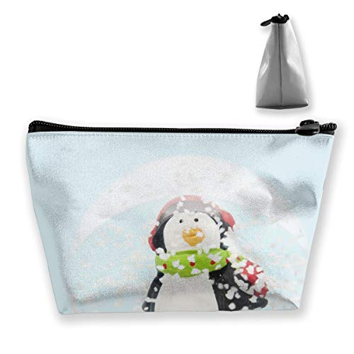 RobotDayUpUP Snow Globe Womens Travel Cosmetic Bag Portable Toiletry Brush Storage Multifunctional Pen Pencil Bags Accessories Sewing Kit Pouch Makeup Carry Case