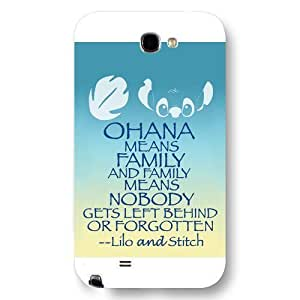 UniqueBox Customized Black Frosted Samsung Galaxy Note 2 Case, Lilo and Stitch Samsung Note 2 case