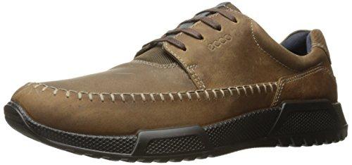 ECCO Men's Luca Moc Toe Oxford, Camel/Marine, 43 EU/9-9.5 M (Moc Toe Oxford Mens Shoes)