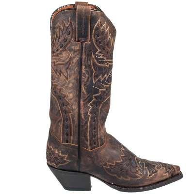 Dan Post Boots Women's Tan Sidewinder DP3422 Snip Toe Cowboy Boots
