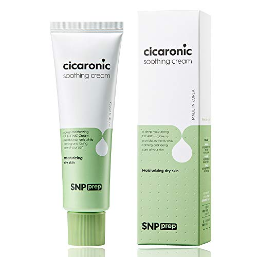 SNP PREP - Cicaronic Soothing Cream - Helps Calm & Reduce Irritation for All Sensitive Skin Types with Hyaluronic Acid & Centella Asiatica - 50g - Best Gift Idea for Mom, Girlfriend, Wife, Her, Women