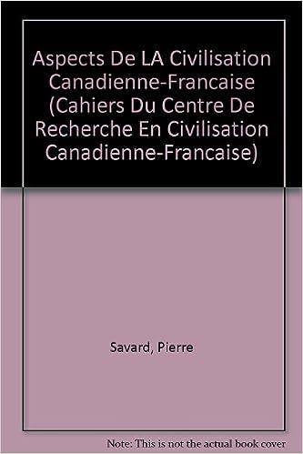 Livres Aspects de la civilisation canadienne-française epub pdf