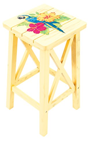 - Margaritaville Indoor/Outdoor Wood Bar Stool, Nautical Compass