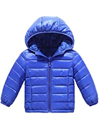 Kid Down Outwear Boys Girls Lightweight Puffer Hooded Quilted Puffer Coat 2-8 Y