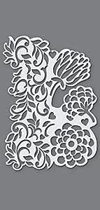 Transparente /Plantilla para estarcir,/1 dise/ño de Flores,/DIN Efco A5 pl/ástico
