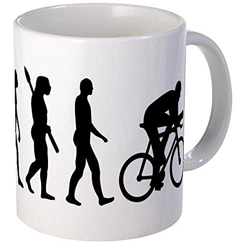 CafePress Evolution Cycling Bike Mug Unique Coffee Mug, Coffee Cup
