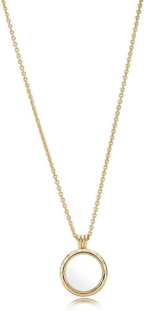 Amazon Com Pandora Shine Floating Locket Necklace Size 60cm