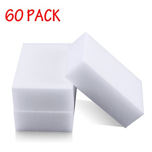 Generic Magic Cleaning Eraser Sponge Melamine Foam High Quality 90 X 60 X 30mm (Pack Of 60)