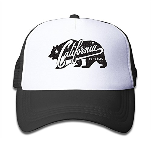 Children California Republic Bear California Republic Bear Summer Baseball Cap Cool Hat