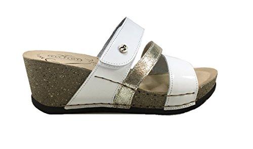 Sandales Vernice Fly pour Flot Femme Bianco 7O84zq