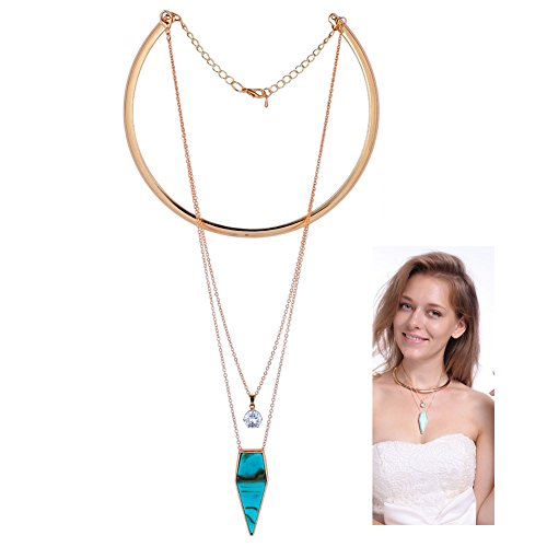 Boosic Golden Necklace Triangle Pendant