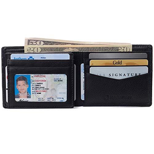 alpine swiss Men's Genuine Leather Wallet
