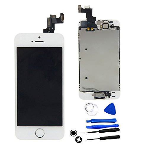 Touch Screen Flex Cable Replacement for iPhone 5C and 5S(White) - 7