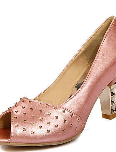 Casual y de Fiesta eu42 5 eu42 mujer Noche Rosa pink 5 ZQ uk8 5 Tac¨®n Beige Zapatos us10 PU cn37 5 cn43 Tacones Blanco us10 Robusto uk4 eu37 5 Abierta Vestido 7 Punta 5 Azul 5 pink Tacones uk8 pink us6 5vfq7cfB