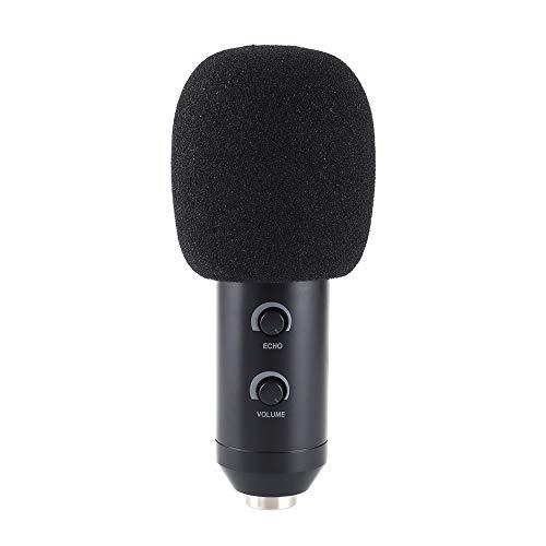 Negro Cubierta de micr/ófono de espuma de reemplazo de auriculares de 5pcs Cubierta de micr/ófono Cubierta de micr/ófono de parabrisas Protector de viento Pop Filtro Cubierta de micr/ófono de espuma