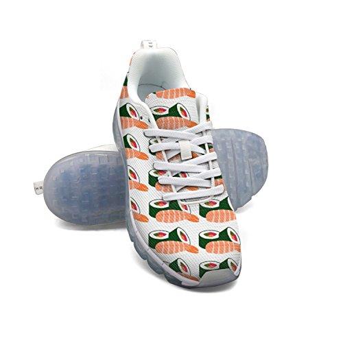 Faaerd Cibo Giapponese Sushi Clipart Donne Maglia Respirabile Scarpe Cuscino Daria Grande Di Sport Scarpe Da Corsa
