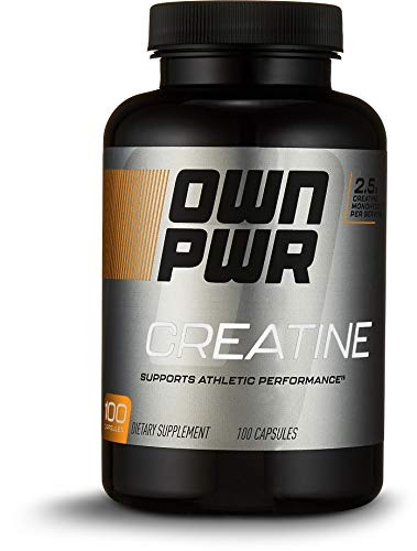 OWN PWR Creatine Monohydrate, 2.5G Per Serving, 100 Capsules, 50 Servings