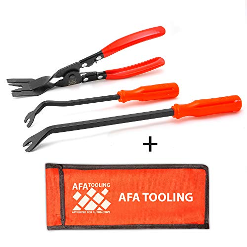 AFA Tooling (3 Pcs) Clip Plier Set and Fastener Remover - The Most Essential Combo Repair Kit (Plastic Tool Rivet Removal)