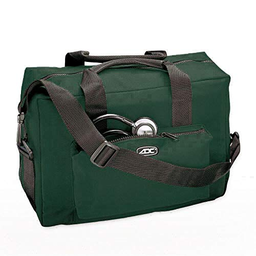 ADC 1024 Nurse/Physician Nylon Medical Equipment Instrument Bag, Dark Green (Adc Nylon Medical Bag)